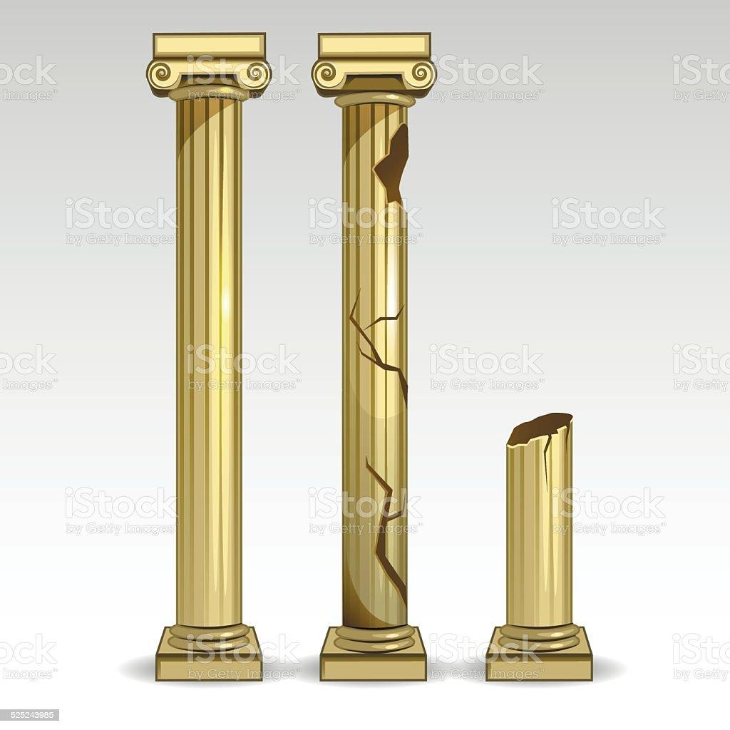 Ancient Greek columns1 vector art illustration