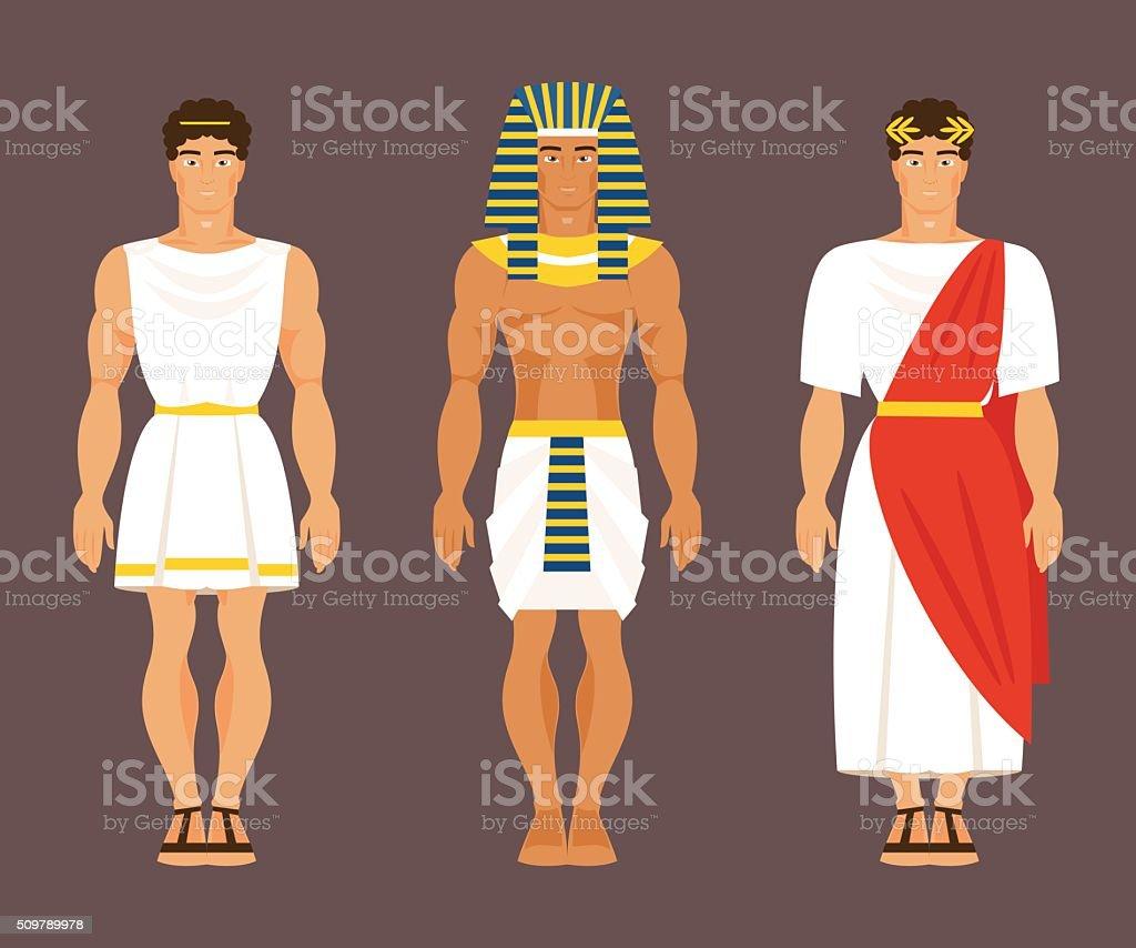 Ancient Greek, Egyptian and Roman. Vector illustration vector art illustration