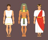 Ancient Greek, Egyptian and Roman. Vector illustration