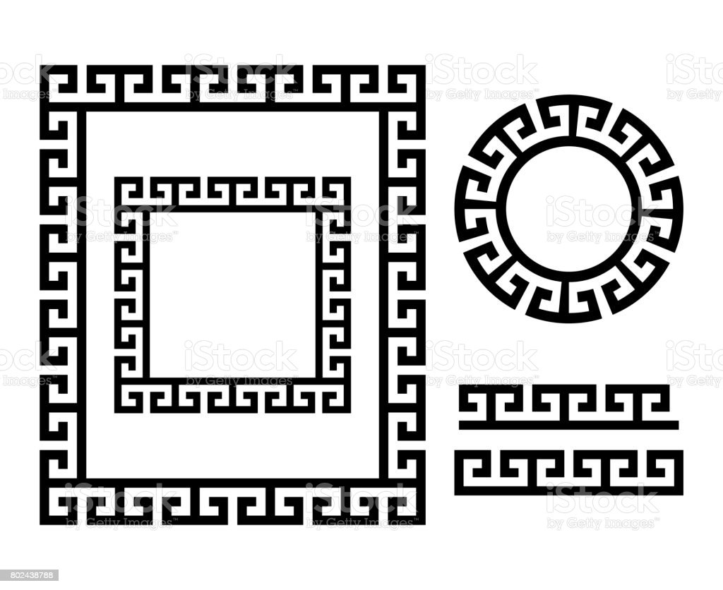 Ancient Greek Frame And Border Key Pattern Form Greece Stock Vector ...