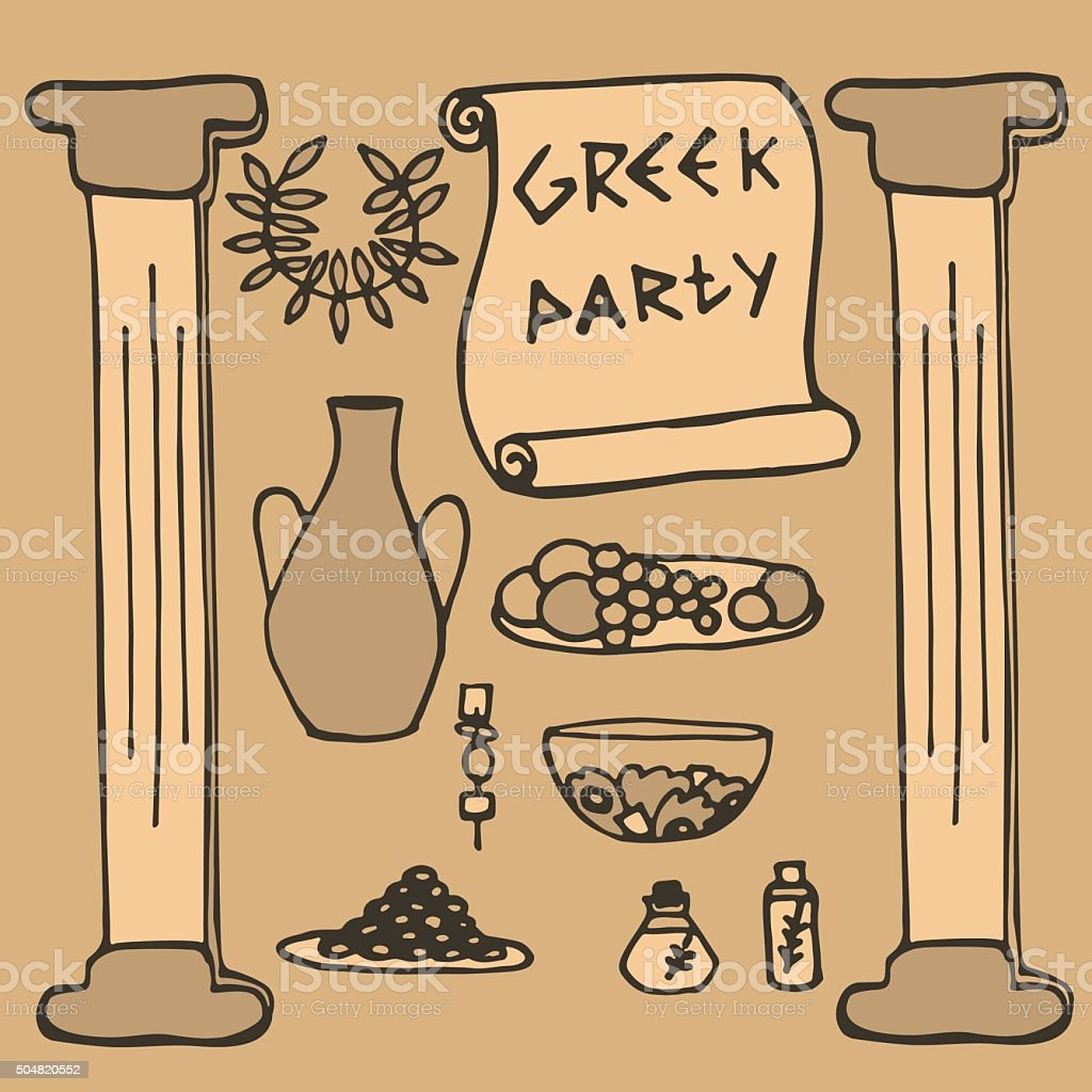 Royalty Free Toga Party Clip Art Vector Images Illustrations Istock