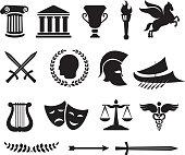 Ancient Greek royalty free vector illustration