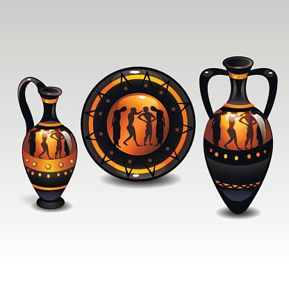 ancient greek tableware