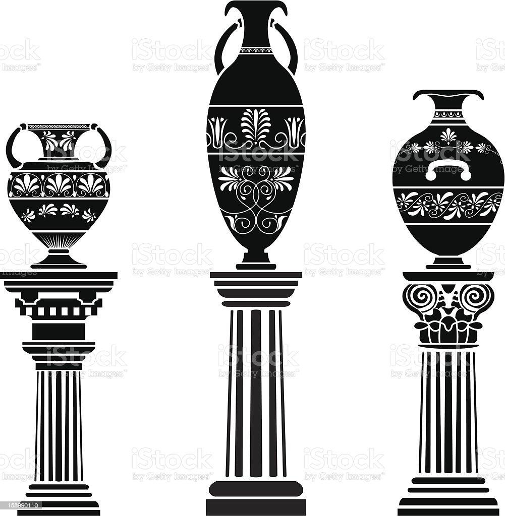 Ancient greek vase on column stock vector art more images of ancient greek vase on column royalty free ancient greek vase on column stock vector art reviewsmspy