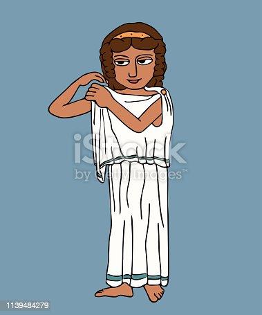 istock ancient greek woman pinned chiton cartoon 1139484279