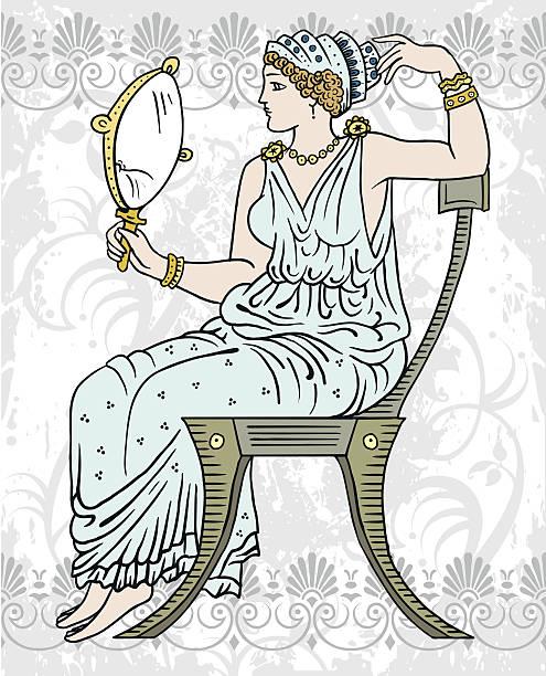 древние греческие женщина - venus stock illustrations