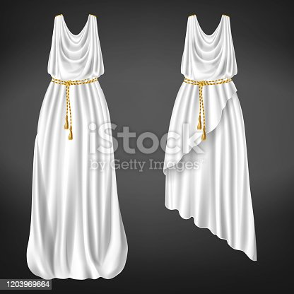 istock Ancient Greek womans chitons realistic vector 1203969664