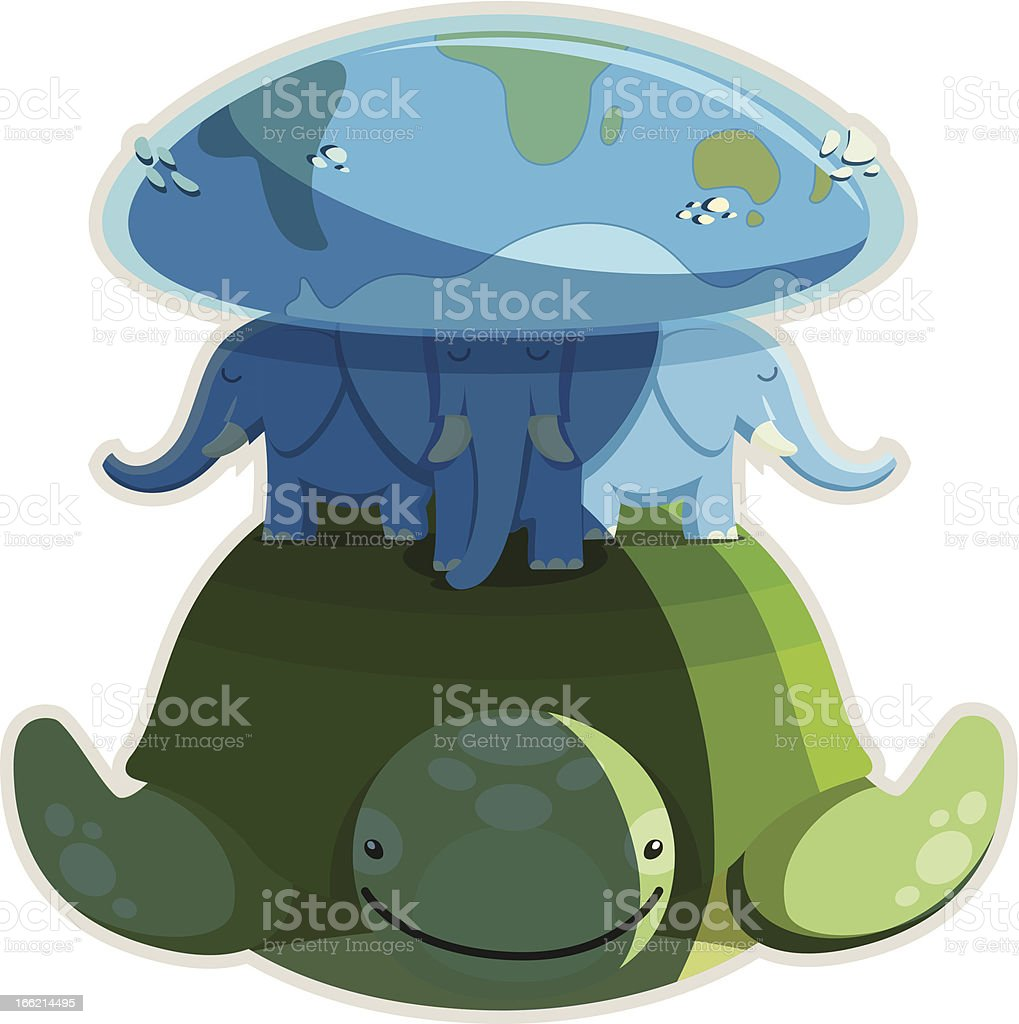 Ancient idea of the world isolated royalty-free stock vector art