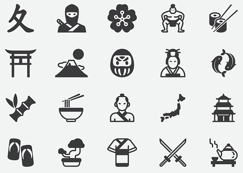 Ancient Japan ,Japanese ,Culture,Pixel Perfect Icons