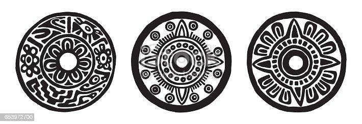 istock ancient maya circle flowers 653972700