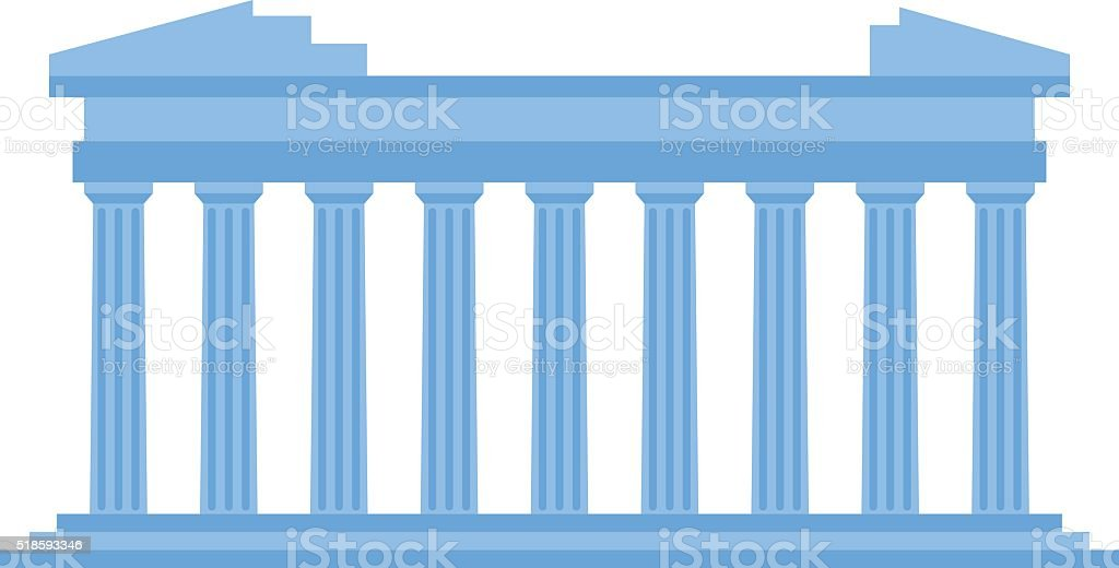 Ancient old structure Greece entrance with columns vector vector art illustration