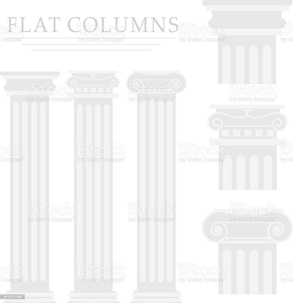 Ancient Roman Column vector art illustration