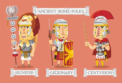 Ancient Rome characters set