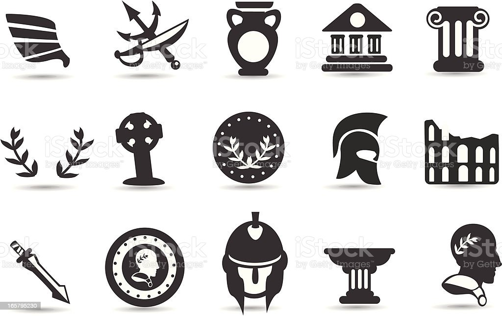 Ancient Rome Symbols vector art illustration