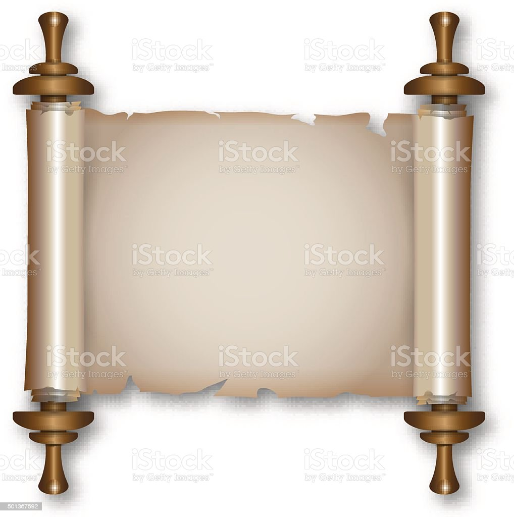 Ancient Scroll: Ancient Scroll With Handles Stock Vector Art & More Images