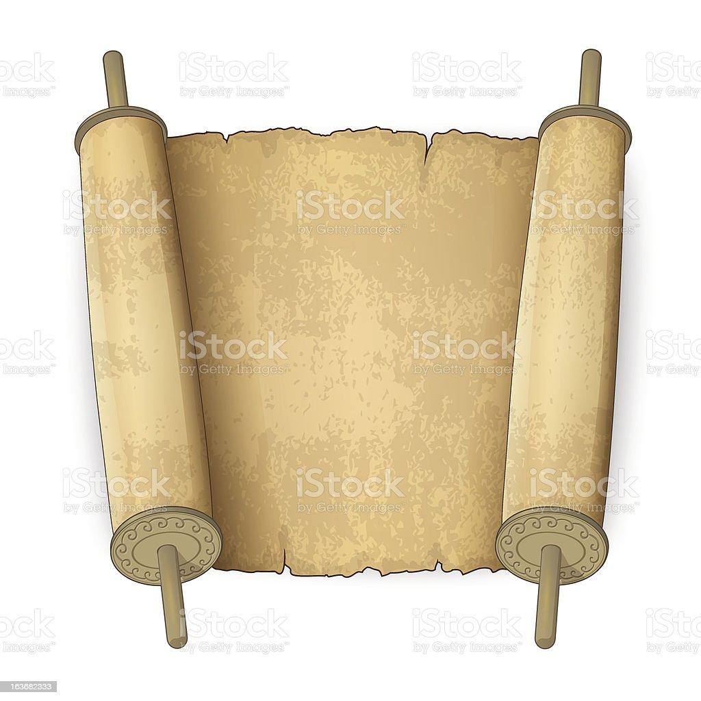 Ancient scrolls vector art illustration