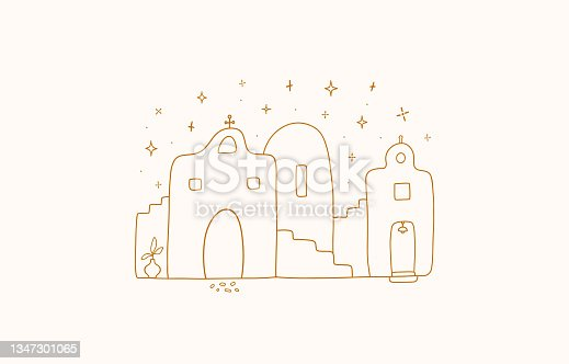 istock ancient street with different houses 1347301065