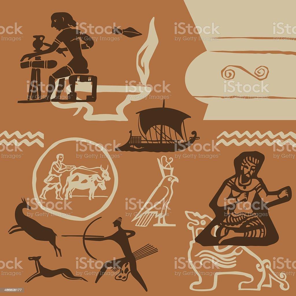 Antigüedad tiempos - ilustración de arte vectorial