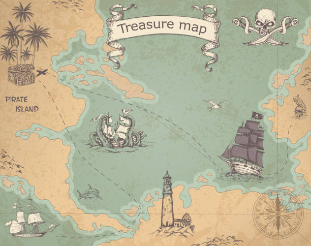 Top 60 Treasure Map Clip Art, Vector Graphics and Illustrations - iStock