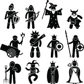 Ancient Warrior Character Pictogram