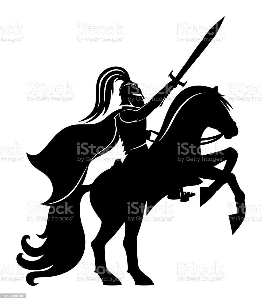 Ancient warrior on horseback.