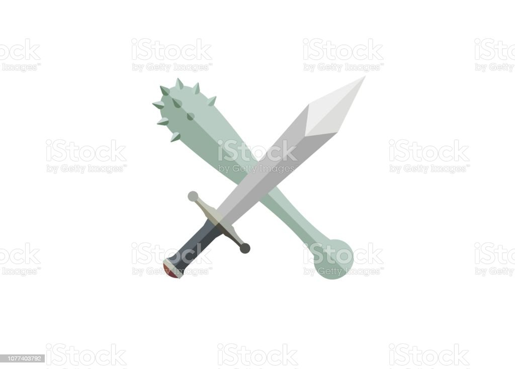 ancient weapon simple illustration vector art illustration