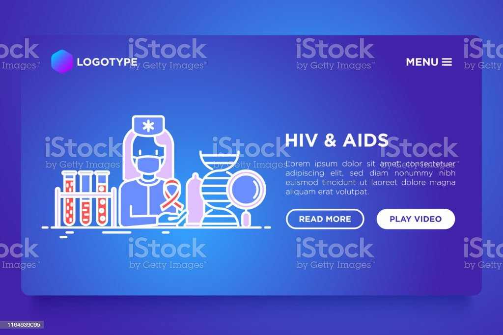 doctor with blood test. Vector illustration, web page template on...
