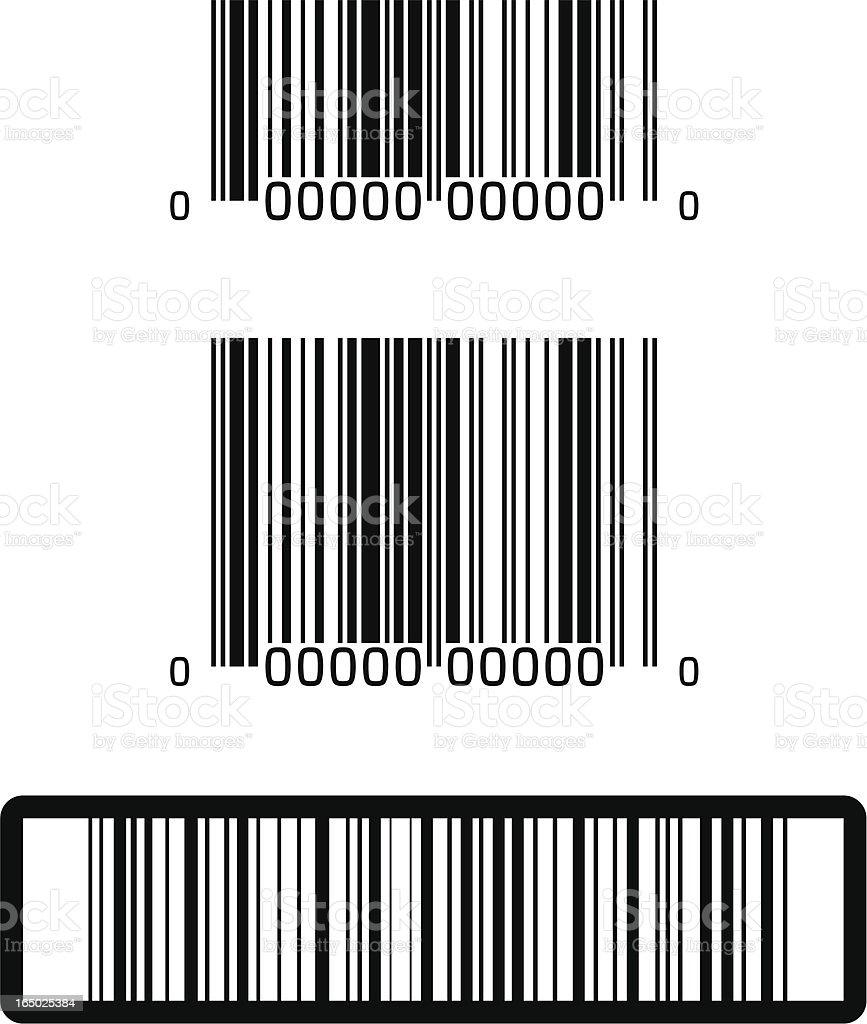UPC and Barcodes royalty-free stock vector art