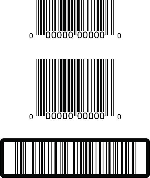 UPC and Barcodes vector art illustration