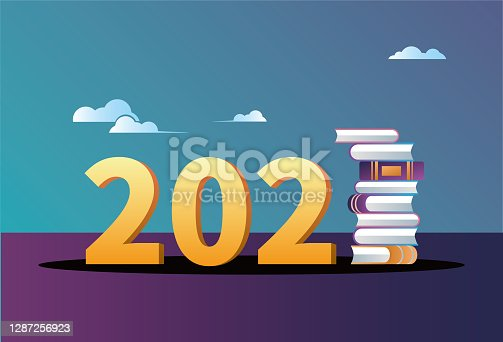 istock 2021 and book 1287256923