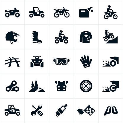 ATV, UTV and Dirt Bike Icons