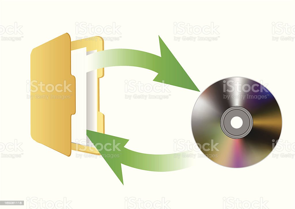 DVD and File - VECTOR royalty-free stock vector art