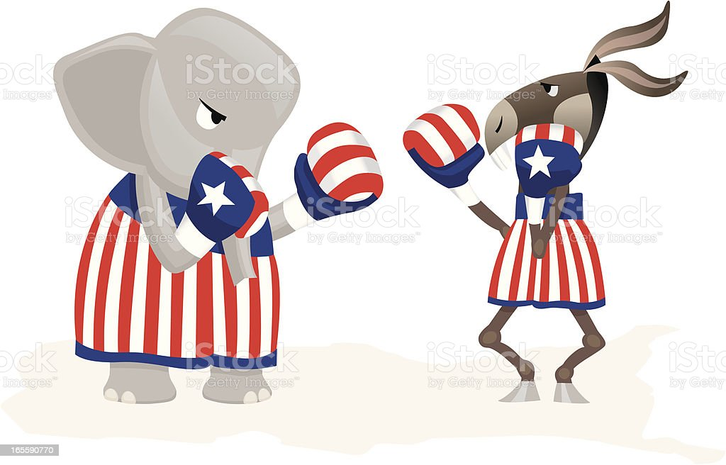 DFL and GOP royalty-free dfl and gop stock vector art & more images of american flag