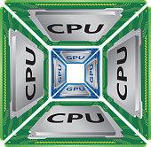 CPU and GPU