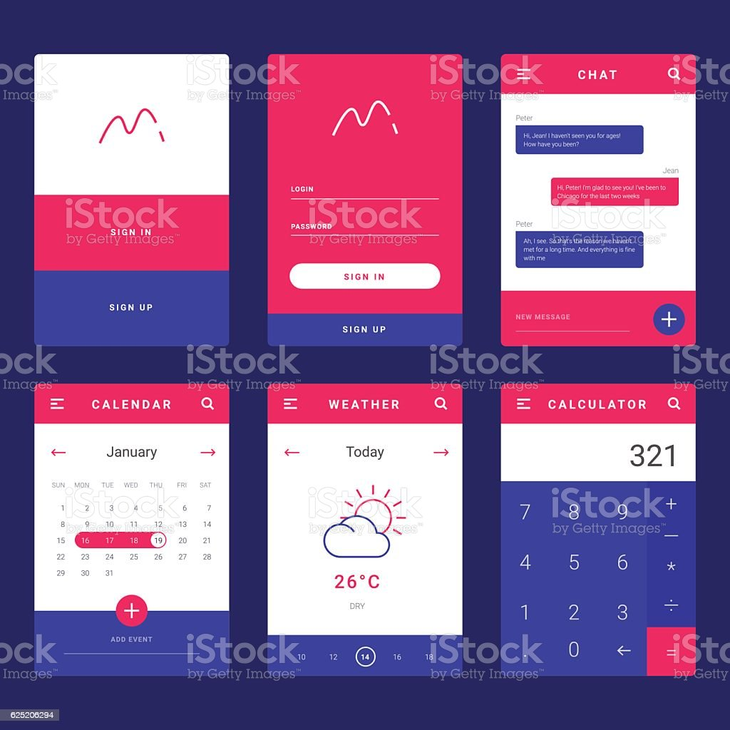 Ui ux and gui template layout for mobile apps stock vector art ui ux and gui template layout for mobile apps royalty free ui ux maxwellsz