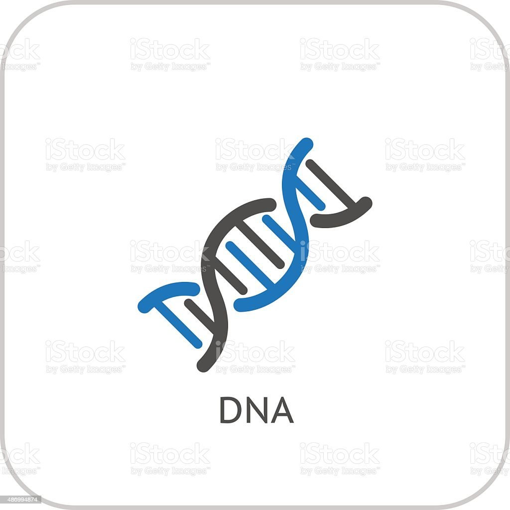 DNA and Medical Services Icon. Flat Design. vector art illustration