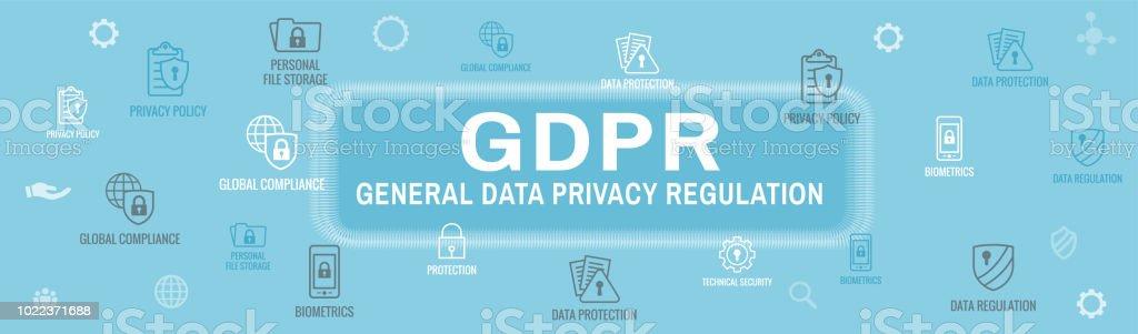 DSGVO Und Privacy Policy Web Banner Header Hintergrund Lizenzfreies Dsgvo