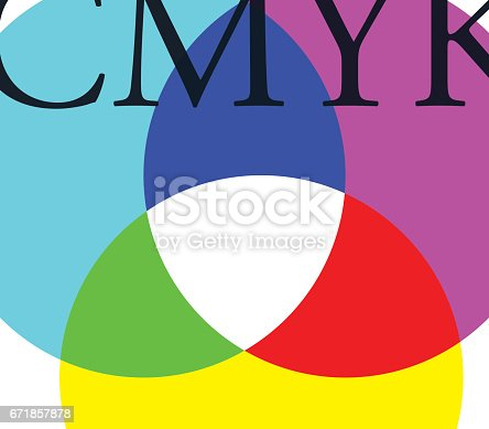 Cmyk And Rgb Color Diagram Stock Vector Art More Images Of Black