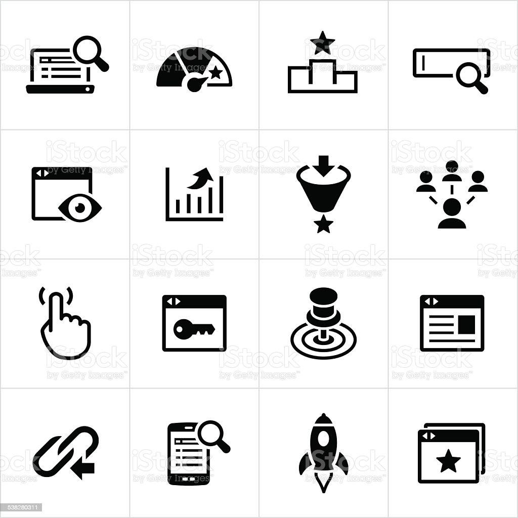 SEM and SEO Icons vector art illustration