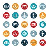 Black search engine marketing and search engine optimization icons. SEM, SEO, online marketing, marketing, icons, symbols.