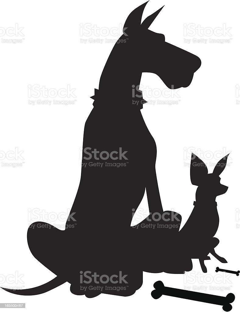 royalty free big dog little dog clip art vector images rh istockphoto com bing clip art borders bing clip art