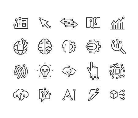 AI and Technology Icons - Classic Line Series