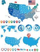 USA and WORLD MAP KIT