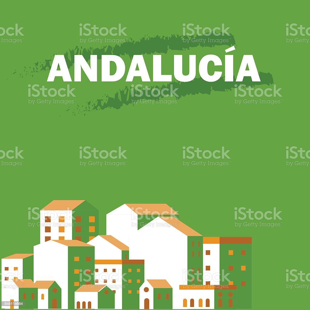 Andalucia's day. Poster vector art illustration