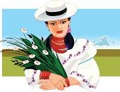 representación de la mujer que vive en la región andina de Sudamérica.
