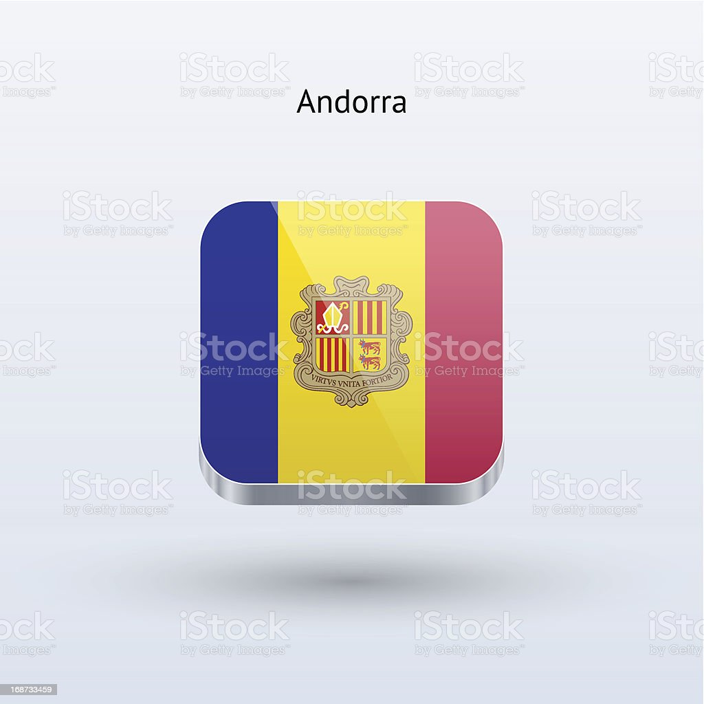 Andorra Flag Icon royalty-free stock vector art