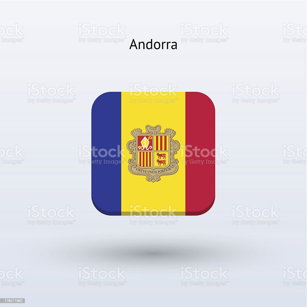 Andorra Flag Icon royalty-free andorra flag icon stock vector art & more images of andorra