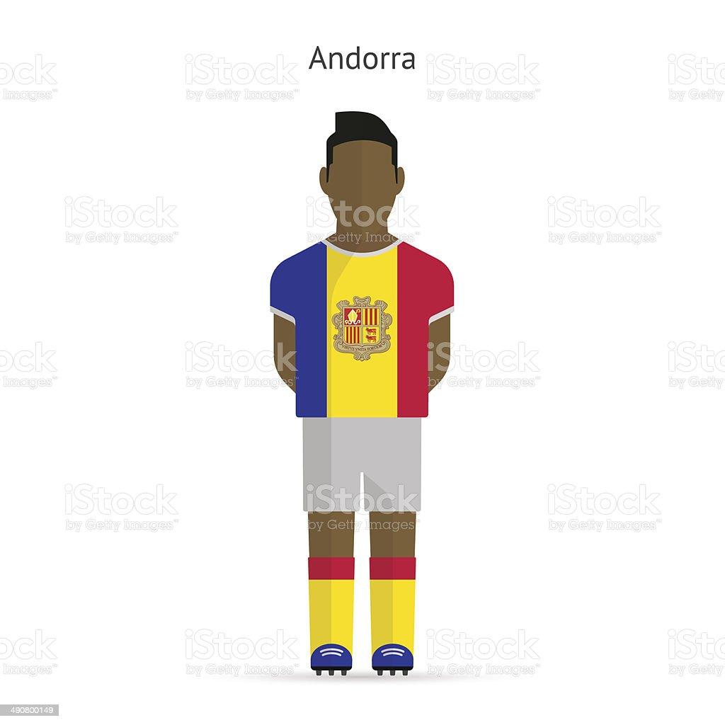Andorra football player. Soccer uniform. vector art illustration