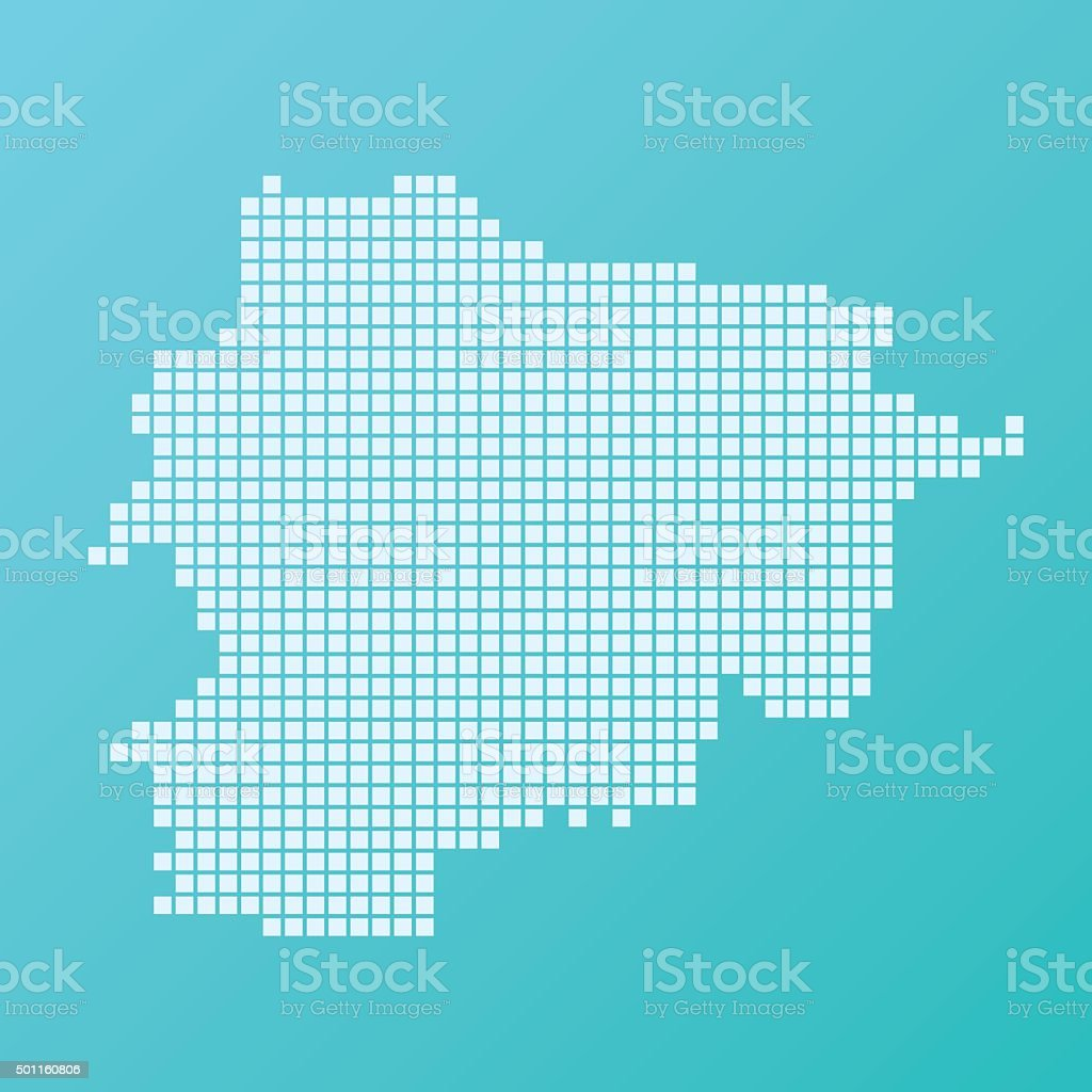 Andorra Map Basic Square Pattern Turquoise vector art illustration