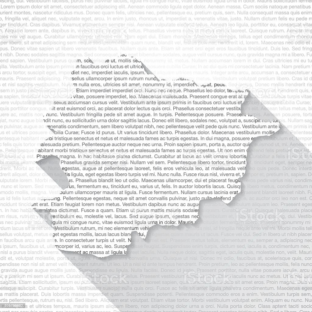 Andorra Map on Text Background - Long Shadow vector art illustration